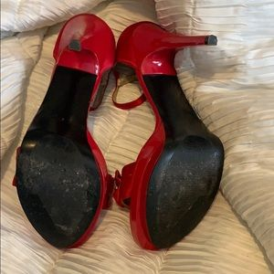 Guess Shoes - Red Guess sandals. 5 inch heel.